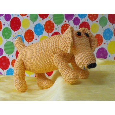 NURSERY SAUSAGE DOG TOY KNITTING PATTERN - MADMONKEYKNITS