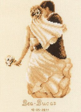 Vervaco Private Moment Wedding Sampler Cross Stitch Kit - 16.5cm x 23.5cm