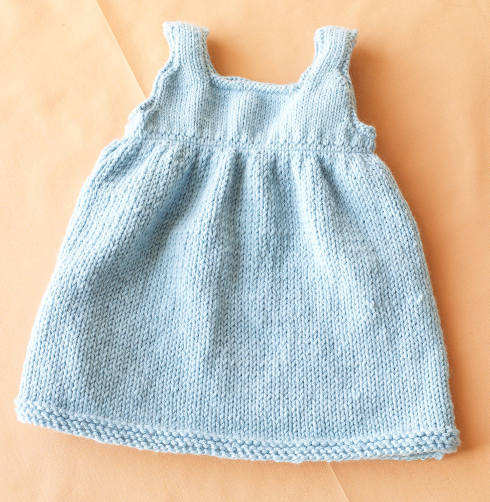 Baby Sweater Dress In Lion Brand Superwash Merino Cashmere
