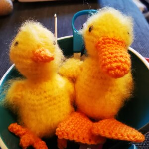 Easter Duckling and Chick in Toft Fine Yarn, DK, Aran & Chunky