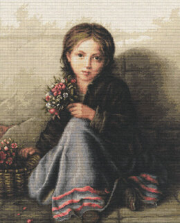 Luca-S Girl Portrait Cross Stitch Kit - 33cm x 42.5cm