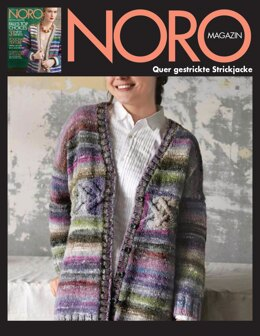 Quer gestrickte Strickjacke aus Noro Ito - 16067 - Downloadable PDF