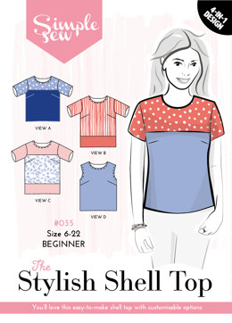 Simple Sew Patterns The Stylish Shell Top #035 - Sewing Pattern