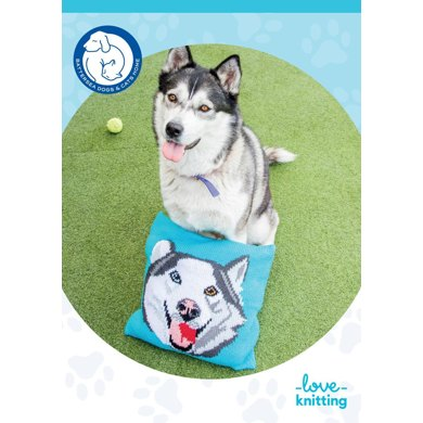 Theo the Dog Pillow for Battersea Knitting pattern by Battersea Dogs & Ca...