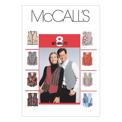 McCall's Misses'/Men's Lined Vests M6228 - Sewing Pattern