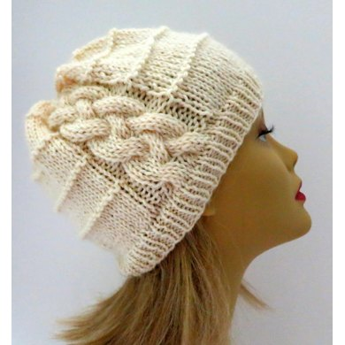 Brie An Easy Cable Hat Knitting Pattern By Grace Sines Knitting
