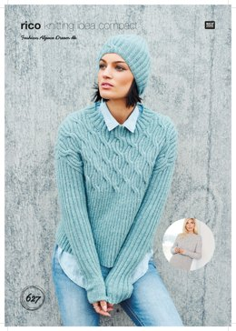 24a781193 Sweater and Hat in Rico Fashion Alpaca Dream DK - 627