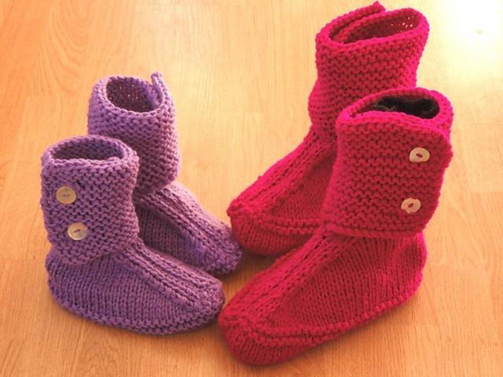 Slouch Slippers For The Family Knitting Pattern By Sarah Taylor