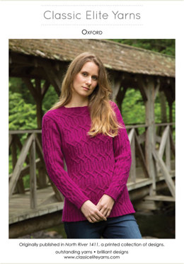 Oxford Pullover in Classic Elite Yarns Color by Kristin - Downloadable PDF