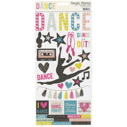 """Simple Stories Simple Sets Dance Cardstock Stickers 6""""X12"""" - 303037"""