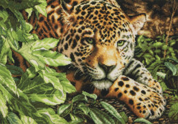 Dimensions Leopard in Repose Cross Stitch Kit - 40.5cm x 28cm