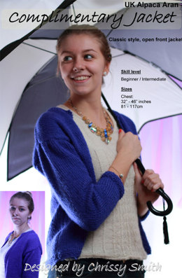 Complimentary Jacket by UK Alpaca Baby Alpaca/Merino Aran (Downloadable PDF)
