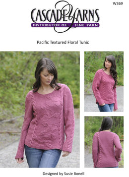 Textured Floral Tunic Cascade Pacific - W369
