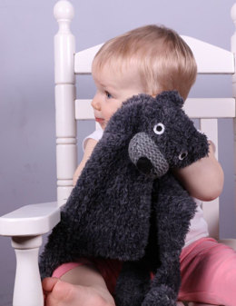 Woobie Security Blanket in Plymouth Yarn Yarnimals Bear - f708 - Downloadable PDF