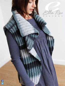 Ribbed Vest in Ella Rae Seasons - ER15-01 - Downloadable PDF