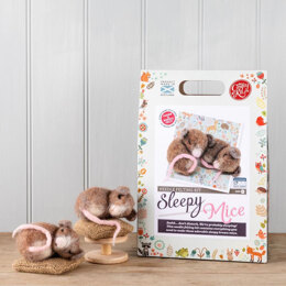 The Crafty Kit Company Sleepy Mice Needle Felting Kit - 190 x 290 x 94mm