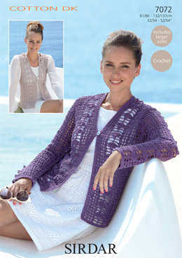 Cardigan and Waistcoat in Sirdar Cotton DK - 7072
