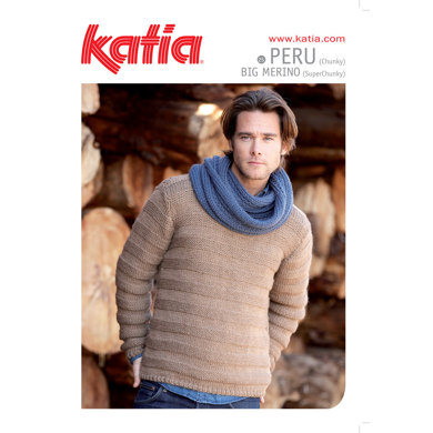 Mens Jumper and Scarf in Katia Peru - 25