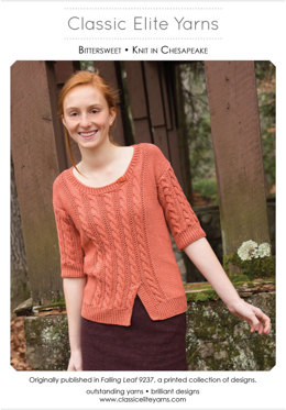 Bittersweet Pullover in Classic Elite Yarns Chesapeake - Downloadable PDF