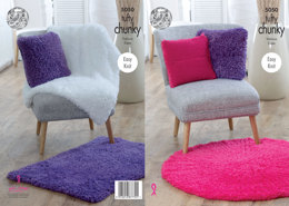 Blankets, Cushions & Rugs in King Cole Tufty Chunky - 5050 - Leaflet