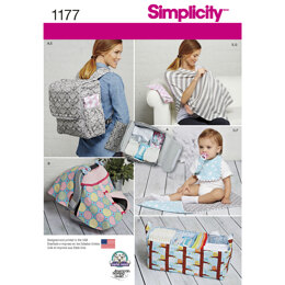 Simplicity Accessories for Babies 1177 - Paper Pattern, Size OS (ONE SIZE)