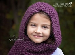 Easy Knit Hooded Scarf Cowl Knitting Pattern 128