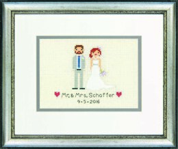 Dimensions Wedding Record Bride and Groom Cross Stitch Kit - 18cm x 12.5cm