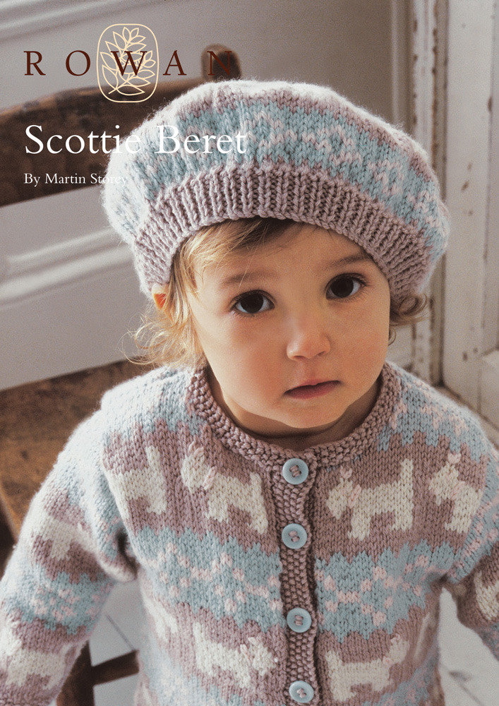 Knitted Beret Pattern Toddler : Scottie Beret in Rowan Baby Merino Silk DK Knitting Patterns LoveKnitting