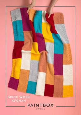 """Brick Work Blanket"" - Free Blanket Knitting Pattern For Home in Paintbox Yarns Simply Chunky"