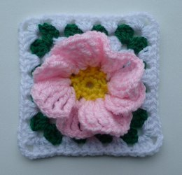 Flower in granny square (2)