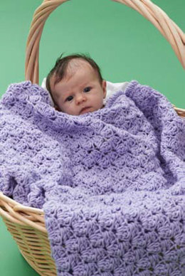 Textured Baby Blanket in Caron One Pound - Downloadable PDF