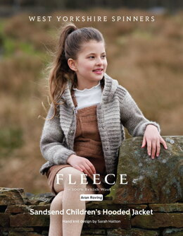 Sandsend Children's  Hooded Jacket in West Yorkshire Spinners Bluefaced Leicester Roving - DBP0173 - Downloadable PDF