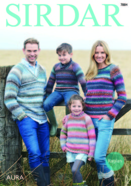 Sweaters in Sirdar Aura - 7884 - Downloadable PDF