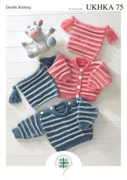 Sweater, Cardigan and Hat in King Cole Baby DK - UKHKA75pdf - Downloadable PDF