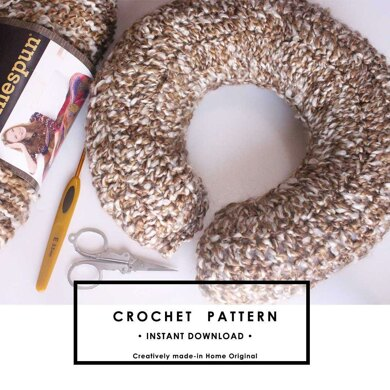 U shaped Travel Pillow Crochet Pattern