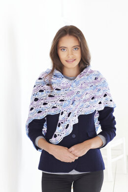 Ladies Shawls in King Cole Drifter 4 Ply - 5583 - Leaflet