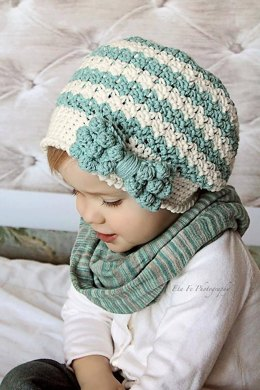 Bella Slouch with Bobble Bow