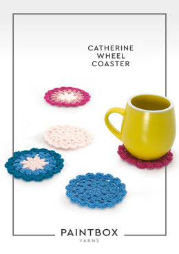"""""""Catherine Wheel Coaster"""" - Free Crochet Pattern For Home in Paintbox Yarns Simply DK"""