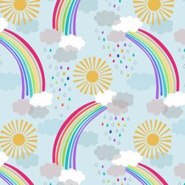 Lewis & Irene Rainbows - Pastel rainbows on Light Blue