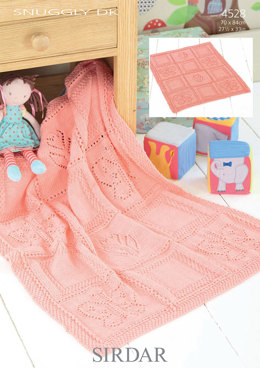 Flower and Butterfly Blanket in Sirdar Snuggly DK - 4528