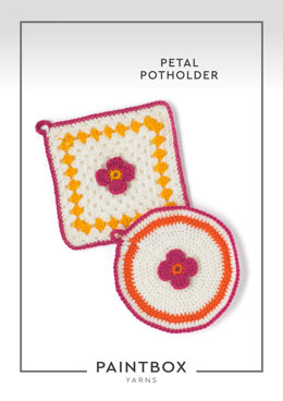 """""""Petal Potholder"""" - Crochet Pattern For Home in Paintbox Yarns Simply DK"""