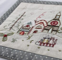 Un Chat Dans L'Aiguille Christmas Village Embroidery Kit - Multi