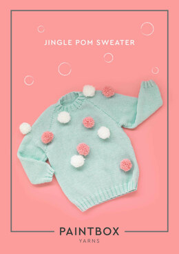 Jingle Pom Sweater in Paintbox Yarns Baby DK - Downloadable PDF