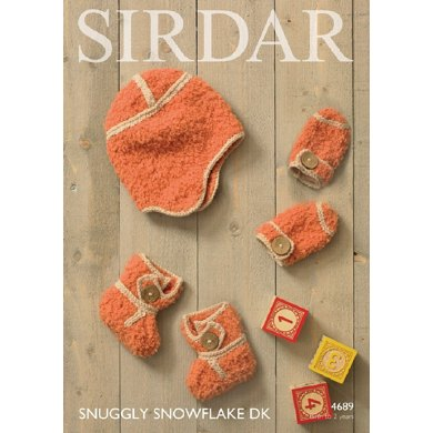 Sirdar Knitting Pattern Abbreviations : Bootees, Helmet and Mittens in Sirdar Snowflake DK and Snuggly DK - 4689