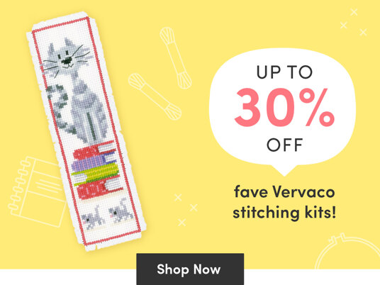 Up to 30 percent off fave Vervaco stitching kits!