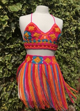 Multi Top and Skirt - Block Party