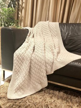 Super Easy Faux Cable Afghan