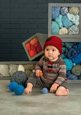 c5860a852b56 Baby Jumper and Hat in Bergere de France Goomy 50 - 42756