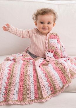 Be My Baby Blanket in Red Heart Creme de la Creme - LW4856 - Downloadable PDF
