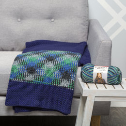 Blackwatch Throw in Premier Yarns Everyday Plaid & Deborah Norville Everyday Soft Worsted Solids - Downloadable PDF